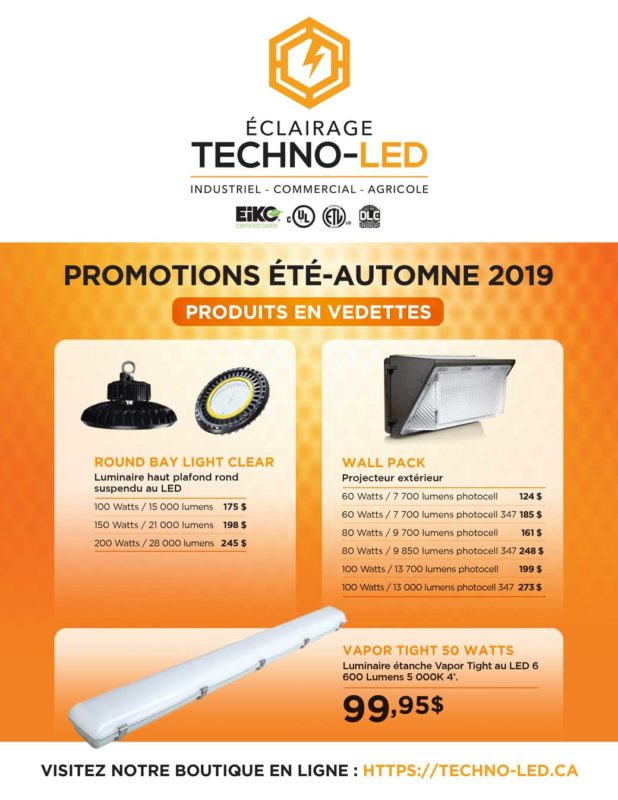 Catalogue automne 2019 Éclairage Techno-Led