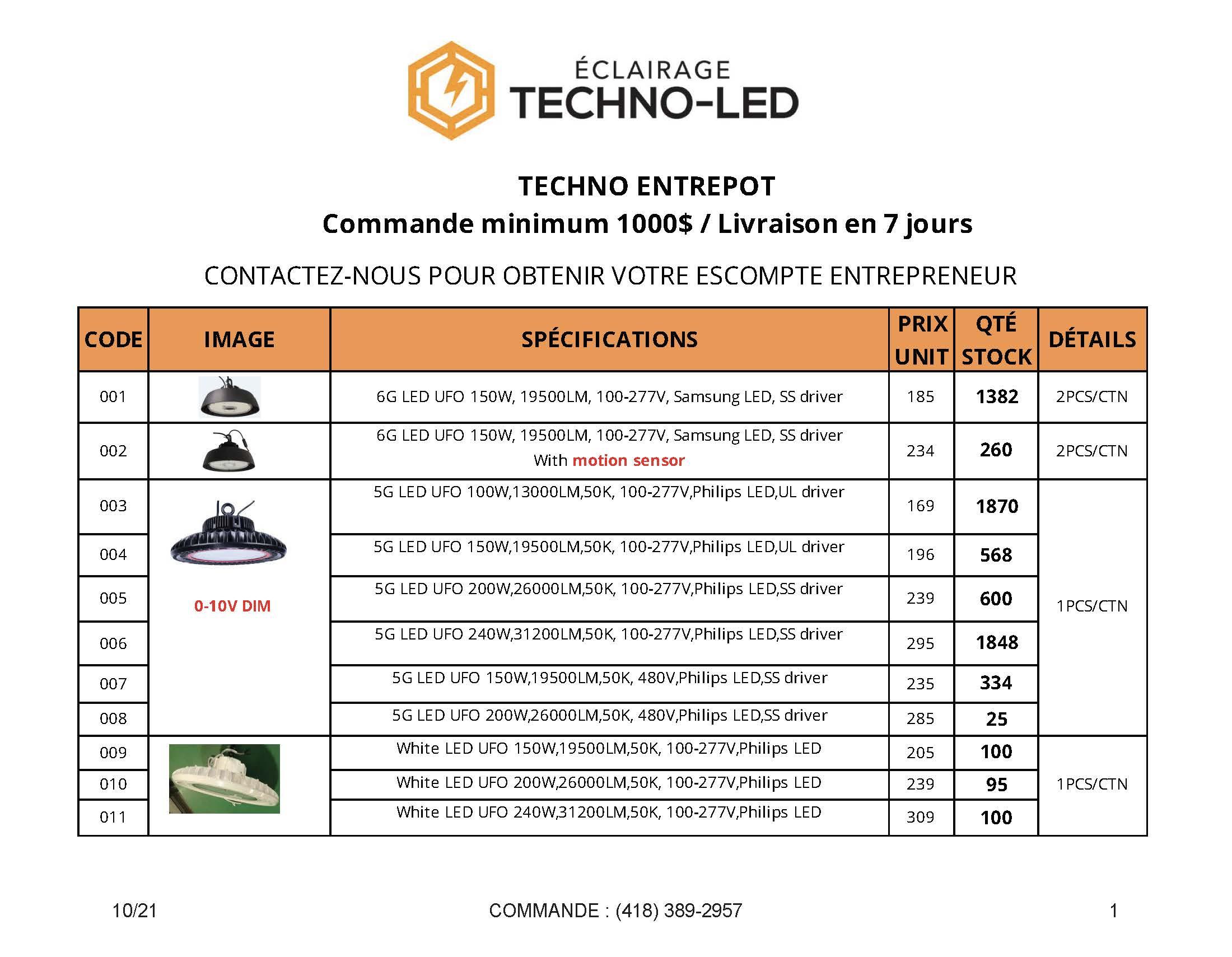 Catalogue Techno Entrepôt